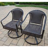 Sedona Wicker Swivel Chairs with Round backs (2 Pack)