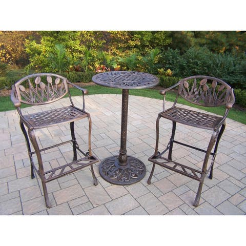Tierra 3 Piece Bar Set with foot rests