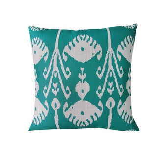 Corvus Teal Polyester 18-inch Square Throw Pillows (Set of 2)