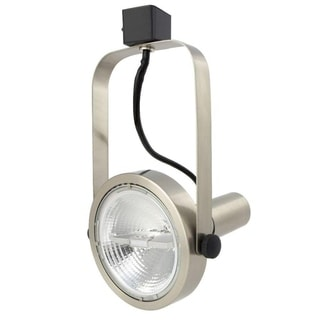 Lithonia Lighting Brushed-nickel Metal Rear-loading Gimbal Commercial Track Head