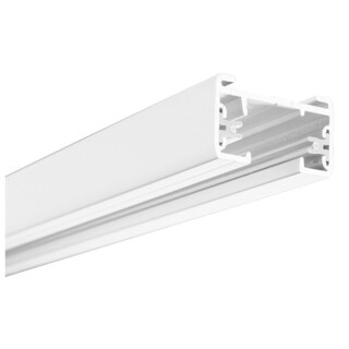 Lithonia Lighting Matte White Aluminum 4-foot 1-circuit Track Section With End Caps