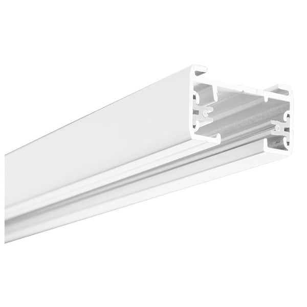 Lithonia Lighting Lts8 Mw M6 White 8 Foot Matte 1 Circuit Track Section With End Caps