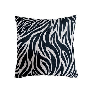 Corvus Black and White Polyester and Dacron 18-inch Square Pillow (Set of 2)