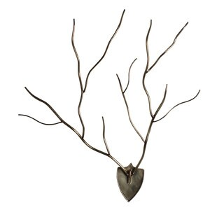 Kate and Laurel Ulyana Plaque-mounted Faux Antlers Wall Art