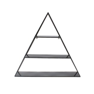 Kate and Laurel Tildan Metal 3-tiered Triangle Floating Wall Shelf