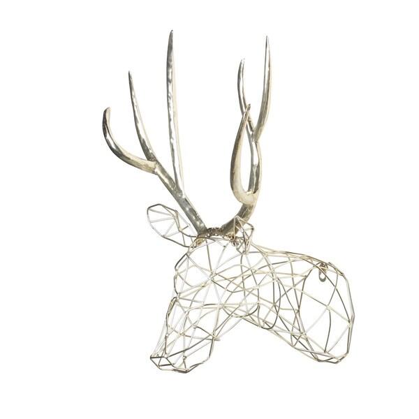 Deer Head Wall Art kate and laurel 'milty faux mounted deer head' metal wall art