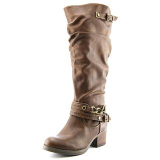 Carlos by Carlos Santana Women's Cassie Wide Calf Brown Faux-leather Boots