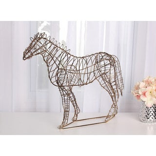 Leandra Geometric Metal Horse Decorative Sculpture
