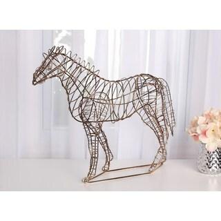 Leandra Geometric Metal Horse Decorative Sculpture