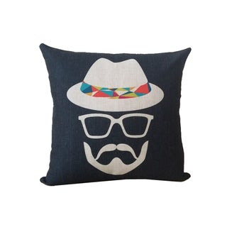 Corvus 18-inch Moustache Man Square Pillows (Set of 2)