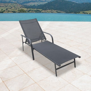Corvus Antonio Outdoor Sling Fabric Adjustable Chaise Lounge