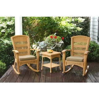 Havenside Home Surfside Outdoor Southwest Rocking Chairs and Table (Set of 3)