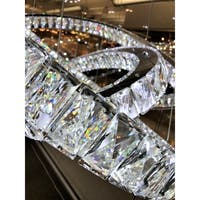 "Modern Euro Cosmos LED 102 Light Crystal Constellation Ring Chandelier 72"" Extra Large"