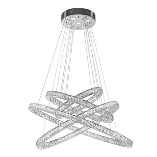 Modern Euro Cosmos LED Collection 61 Light Chrome Finish Crystal Dimmable Chandelier Extra Large