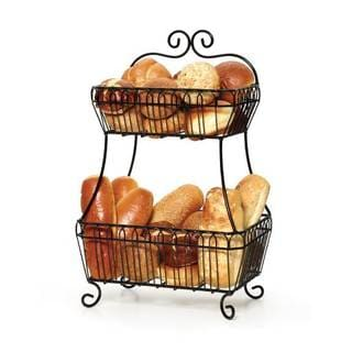 Gourmet Basics by Mikasa Countryside 2-Tier Flatback Basket