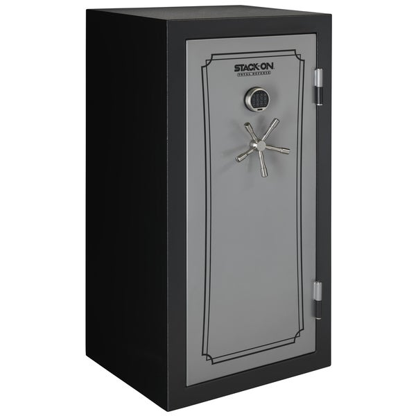 Stack-On 36-40 Gun Safe with Back-lit Electronic Lock, Matte Black/Silver