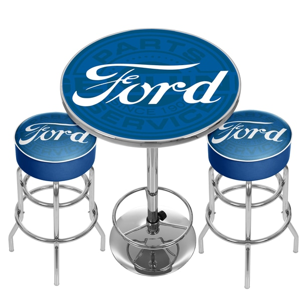 Shop Ford Genuine Parts Game Room Combo 2 Bar Stools And