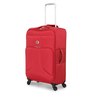 Global Traveler Rust Red Polyester 24-inch Spinner Suitcase