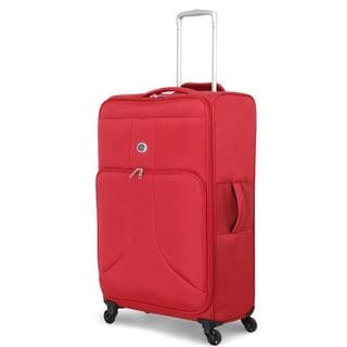 Global Traveler Rust Red Polyester 28-inch Spinner Suitcase