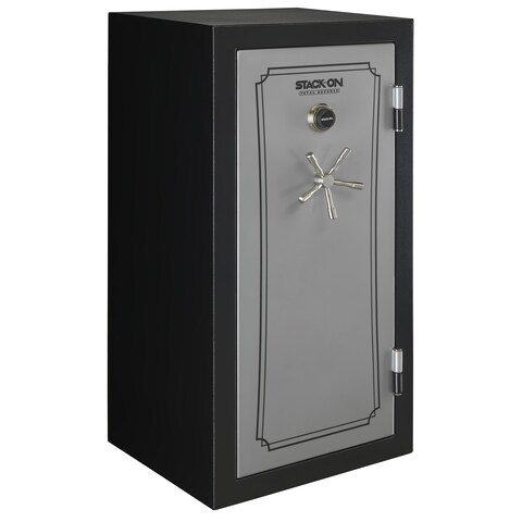 Stack-On 36-40 Gun Safe with Combination Lock, Matte Black/Silver
