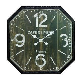 Benzara Black/Brown Metal Wall Clock