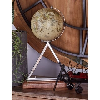 Benzara Stainless-steel PVC and Wood Globe