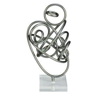 Benzara Trendy Metal Acrylic Sculpture
