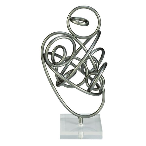 Benzara Trendy Metal Acrylic Sculpture