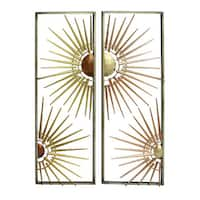 Benzara Elegant Gold Iron Metal Wall Decor (Set of 2)