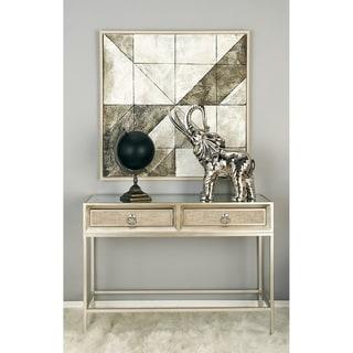 Impressive Wood Metal Mirror Console