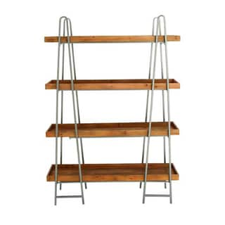 Studio 350 Wood Metal 4-Tier Shelf 43 inches wide, 65 inches high
