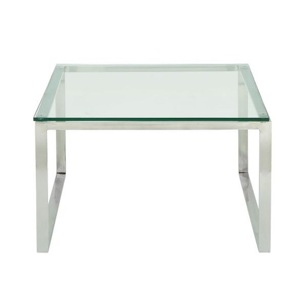 Studio 350 Stainless Steel Gl Coffee Table 30 Inches Wide 19 High Free Shipping Today 13033968