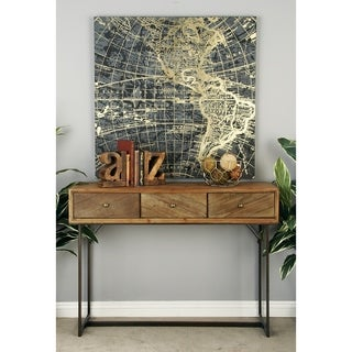 Rustic 3-Drawer Wood and Metal Console by Studio 350