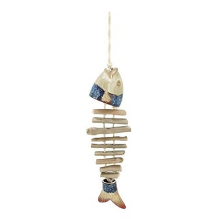 Copper Grove Sharbot Ceramic And Wood Fish Hanging Decor