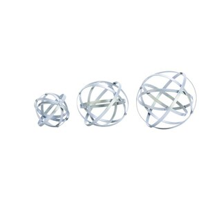Silver Orchid Olivia Iron Metal Orbs (Pack of 3)
