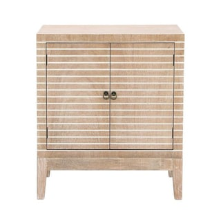 Benzara Tan Wood Cabinet