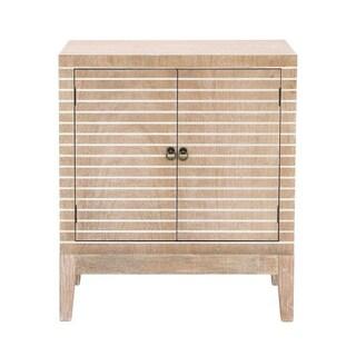 Benzara Tan Wood Cabinet