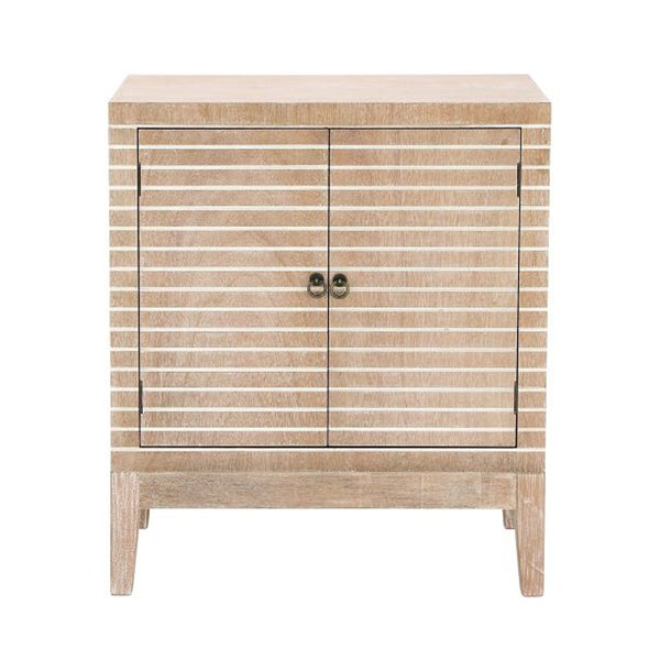 The Curated Nomad Fritz Tan Wood Cabinet