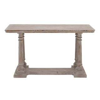 Benzara Distressed Wood Console Table