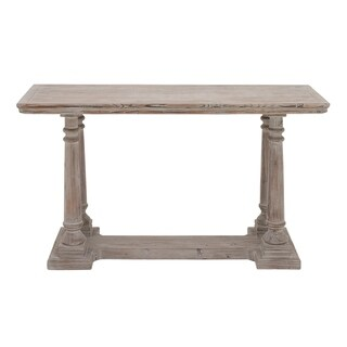 """52"""" x 30"""" Rectangular Beige Wood Console Table by Studio 350"""