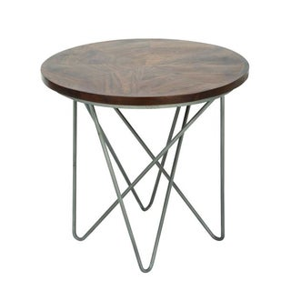 Studio 350 Metal Wood Side Table 24 inches wide, 22 inches high