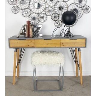 Benzara Stylish Wood Metal Console Table
