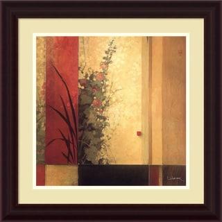 Framed Art Print 'Hollyhock Garden' by Don Li-Leger 22 x 22-inch