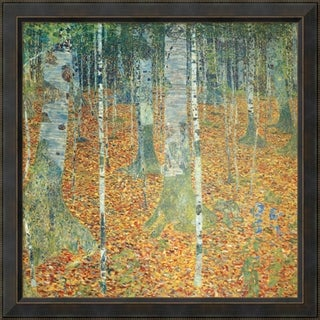 Framed Art Print 'Birkenwald (Birch Forest)' by Gustav Klimt 36 x 36-inch