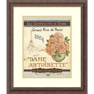 Framed Art Print 'French Seed Packet II' by Daphne Brissonnet 19 x 22-inch
