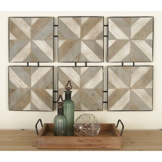 Studio 350 Wood Metal Wall Decor 37 inches wide, 24 inches high
