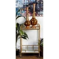 Studio 350 Metal Mirror Bar Cart 18 inches wide, 30 inches high