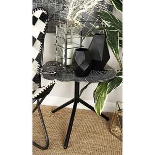 Benzara Iron Metal Accent Table