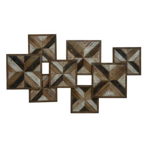Studio 350 Wood Wall Decor 45 inches wide, 27 inches high - Brown