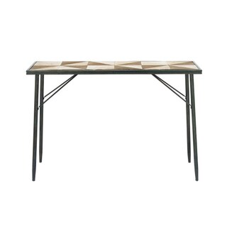 Benzara Elegant Wood and Metal Console Table